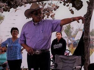 Walter explaining the teepee