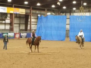 Kelli teaching Equitation